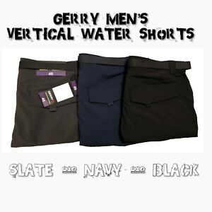 NEW-Gerry-Men-039-s-Belted-Vertical-Water-Shorts-VARIETY-SIZE-amp-COLOR
