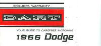 1966 66 Dodge Dart Owner's Manual
