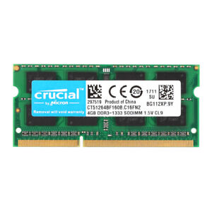 Crucial-4GB-2RX8-PC3-10600S-DDR3-1333MHz-So-dimm-Laptop-Notebook-Memory-RAM-BM