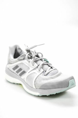 NEW  130 adidas WOMENS  SUPERNOVA SEQUENCE  GREY RUNNING DISTANCE SNEAKERS 9.5