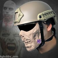 Airsoft Protection Gear Half Face Mask Zombie Skin Cosplay Halloween Costume