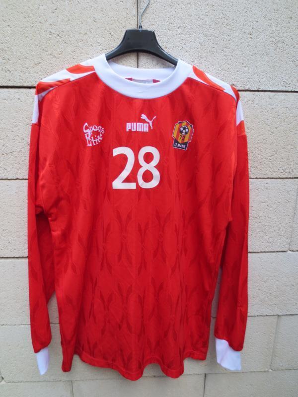 VINTAGE Maillot porté n°28 LE MANS Puma worn shirt ancien entrainement XL