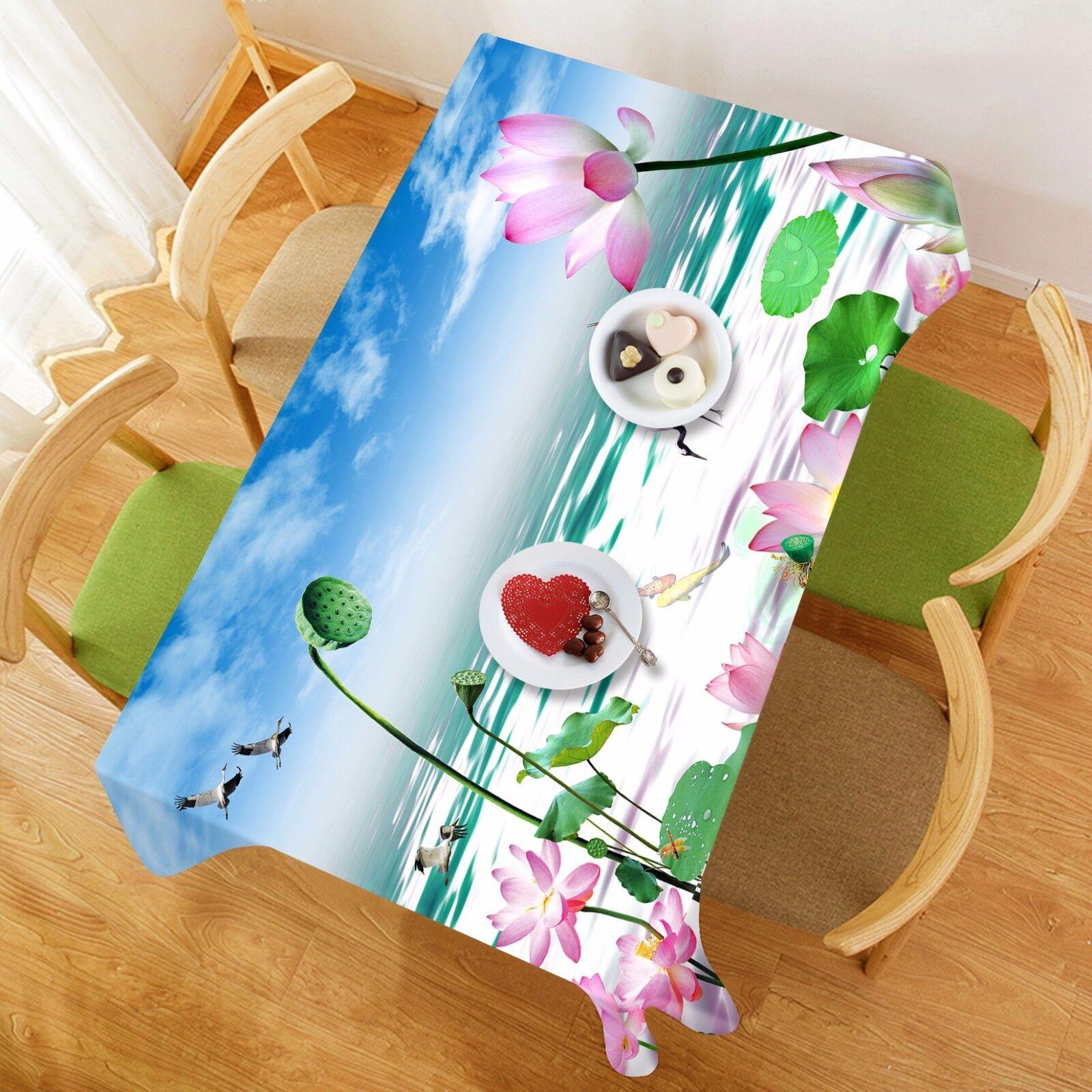 3D Lotus sky83 Nappe Table Cover Cloth Fête D'Anniversaire événement AJ papier peint UK