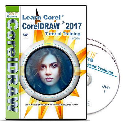 New! Corel Draw CorelDRAW 2017 Tutorial Training 198 videos 11 hrs on 2  DVDs 700814410209 | eBay