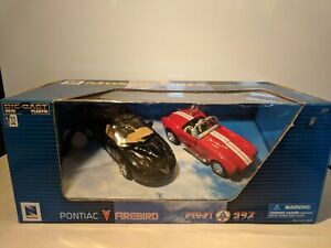 New-Ray-1-32-Muscle-Cars-Pontiac-Firebird-Shelby-Contact-Set-Brand-New