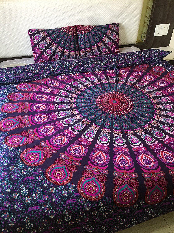 Indian Mandala Cotton Handmade Duvet Cover Bohemian Doona Cover Quilt Cover