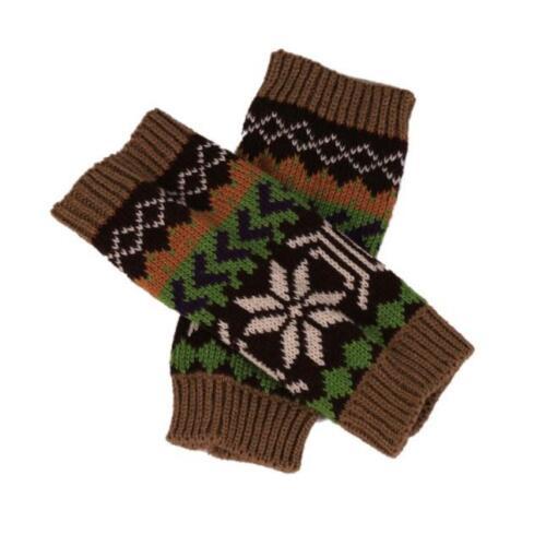 Fashion Knitted Arm Fingerless Winter Womens Soft Gloves Unisex Soft Warm Mitten