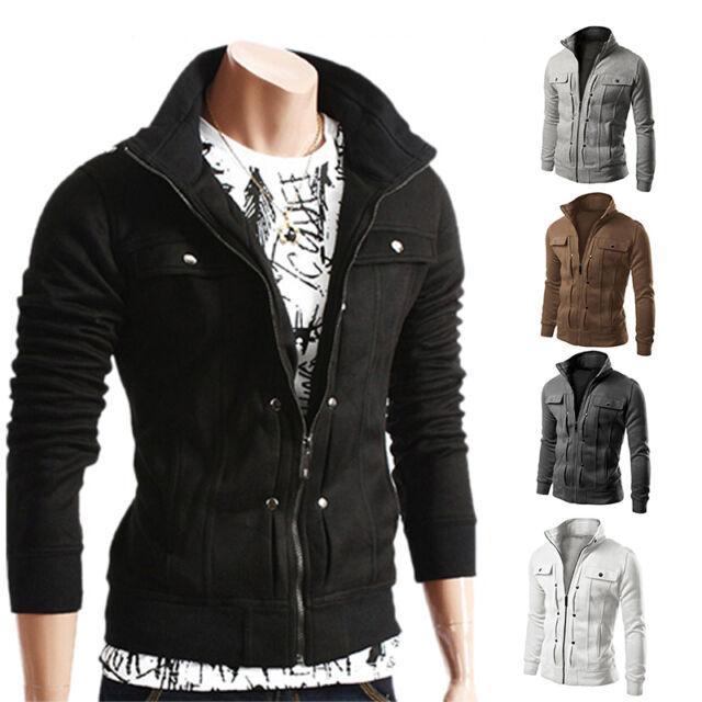 fa9c1124da9b9 Men's Coat Jacket Outerwear Overcoat Slim Tops Warm Blazer Zipper Winter  best