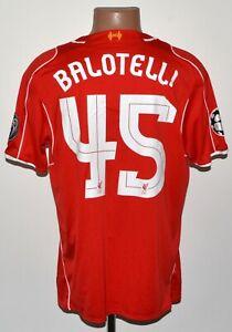 Liverpool 2014/2015 HOME CHAMPIONS LEAGUE maglietta da calcio Warrior BALOTELLI #45
