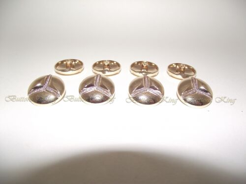 Mercedes symbol Metal buttons Gold Retro style size 22mm.