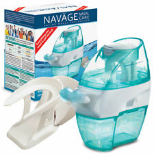 NAVAGE FACTORY REFURB BUNDLE: Nose Cleaner, 18 SaltPods & Countertop Caddy  NETI