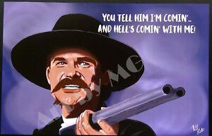 Tombstone Wyatt Earp Kurt Russell Western Movie High Quality Art Print 11x14 Ebay