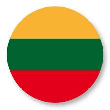 Magnet Aimant Frigo Ø38mm Drapeau Flag Lituanie Lithuania LT Vilnius