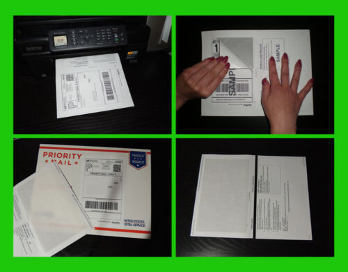 250 SHIPPING LABELS with Paper RECEIPT 4  PAYPAL USPS Laser & Inkjet Printer