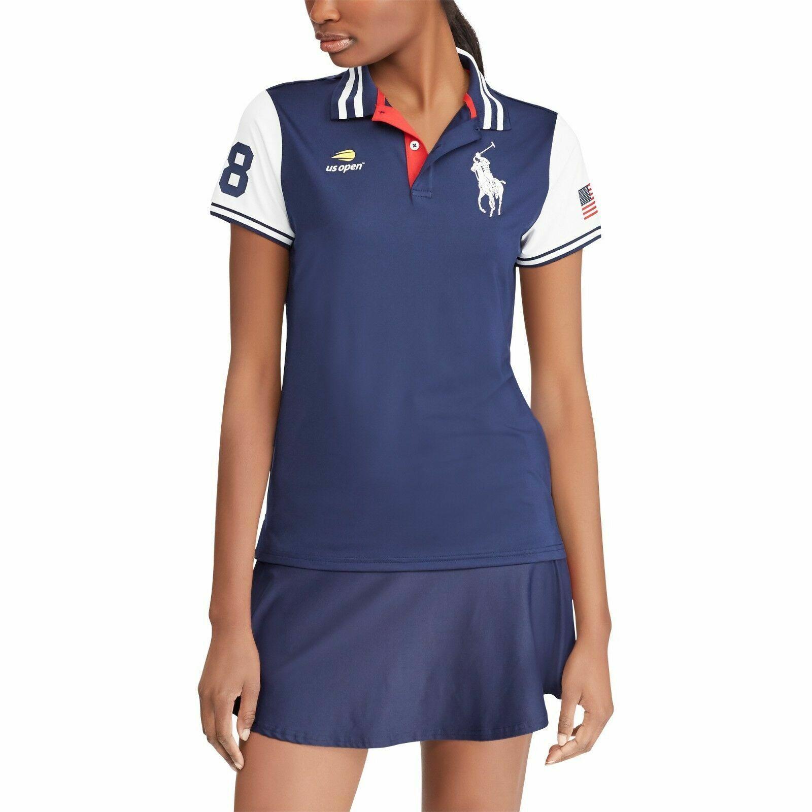 Polo Ralph Lauren Woherren US Open Ball Girl Polo Shirt Navy MSRP