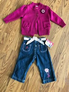 GIRLS JEANS LEE RIDERS  18 MONTHS NWT