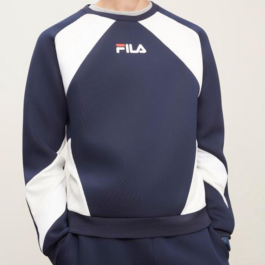 NEW Fila Men's Zelda Textured Crew Sweatshirt  lm183793 410