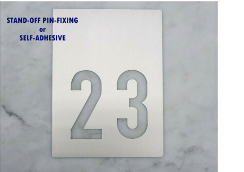 Numeral Plaque Stainless Steel 2-digit House Number