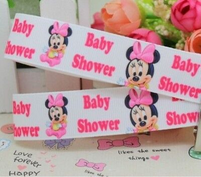 """BABY SHOWER GROSGRAIN RIBBON 99p NEW BABY CAKE PARTY 1M 22mm 7//8/"""" ITS A BOY"""