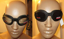 Lot of 2 Protective Motorcycle Skydive Goggle Googles Clear Smoke Burning Man