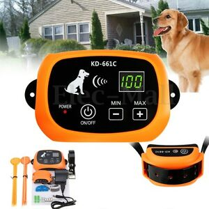 1/2/3 Wireless Dog Fence Rechargeable No-Wire Pet Containment System Waterproof