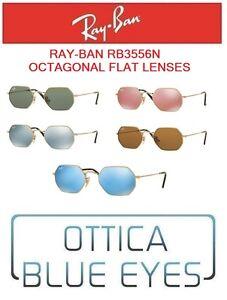 7b27dd9b5b Image is loading RAYBAN-Sunglasses-rb3556n-Octagonal-Flat-lenses-sunglasses- ray-