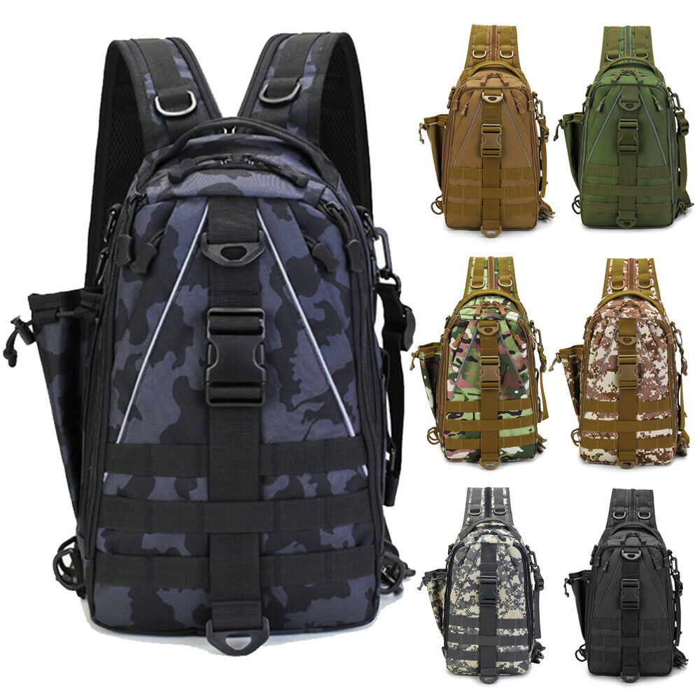 brand new Fishing Bag Tackle Storage Outdoor Shoulder Backpack Cross Body Sl... - s l1600