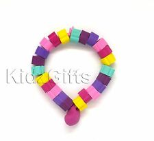 Novelty Rubber ERASERS Bead Bracelet Fun Kids Girls Party Loot Bag Favor Filler