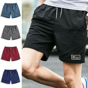 Men-Summer-Beach-Casual-Shorts-Athletic-Gym-Sports-Training-Swimwear-Short-Pants