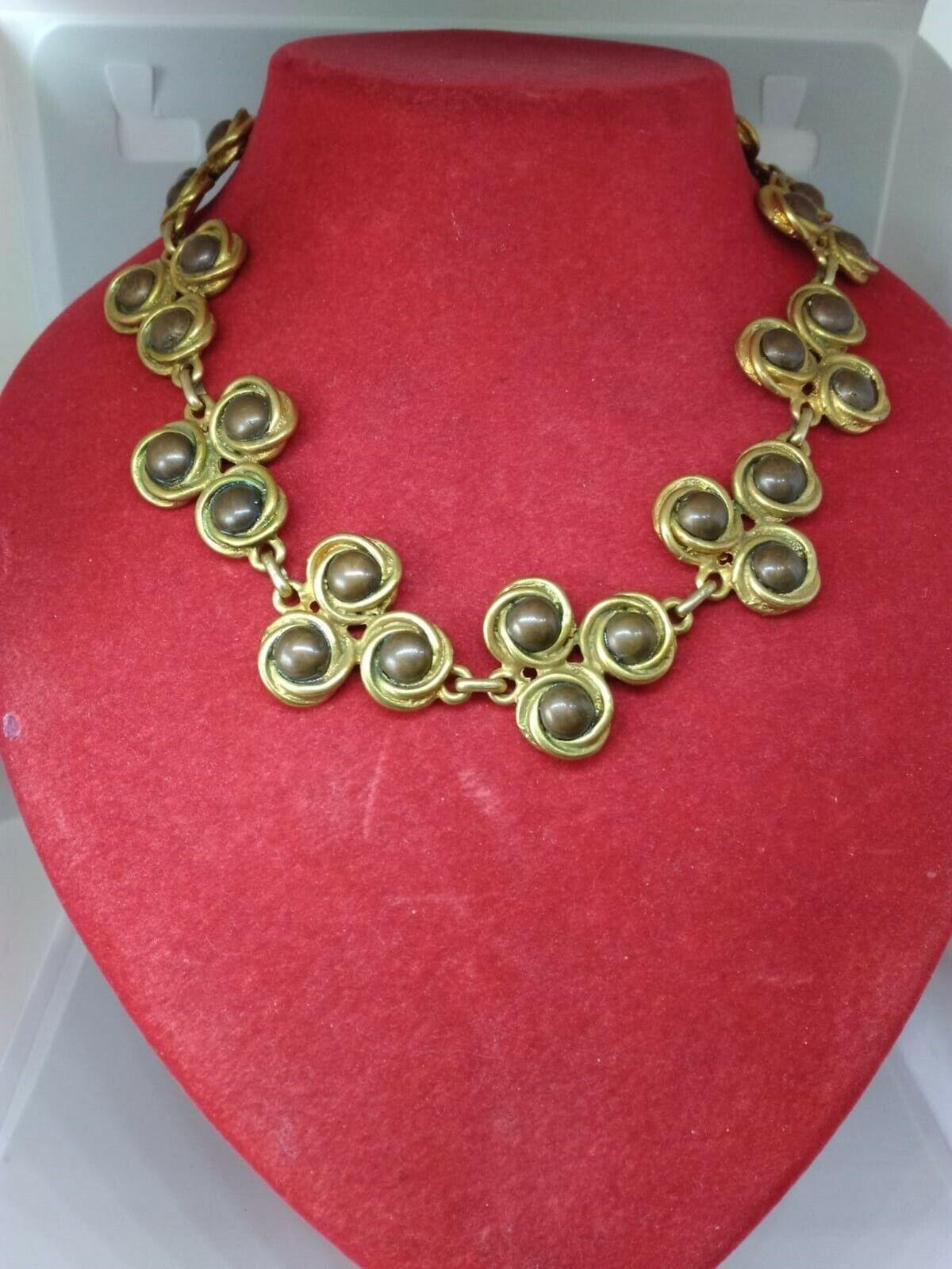 Ancient Necklace Vintage Choker Necklace Women Gold Metal 70/80 years-show original title