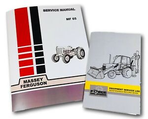 Image Is Loading Massey Ferguson 65 Tractor Service Repair Manual Amp