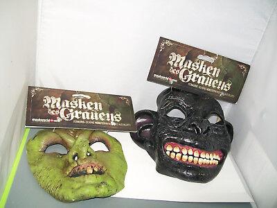 2 Maschere Del Terrore Streghe Maschera Verde Halloween Horror #02-mostra Il Titolo Originale