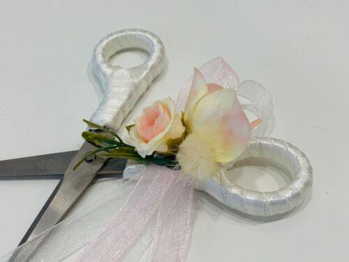 Verlobung Schere Hochzeit Trauung Ring Süslü Makas Rose Söz Yüzük Rosa Creme Gül