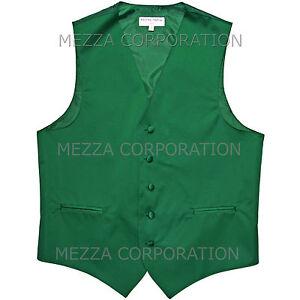 New Men's Vesuvio Napoli Tuxedo Vest Waistcoat only prom party Emerald Green