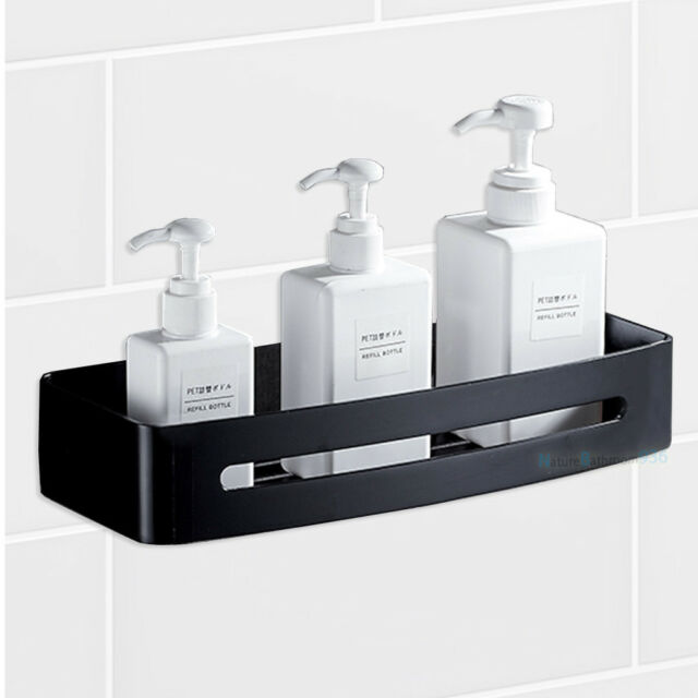 Matt Black Stainless Steel Square Shower Caddy Storage Holder Bath ...