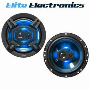 "BOSS AUDIO B65LED 6.5"" 300W 3-WAY CAR SPEAKERS BLUE LED GLOW (PAIR)"