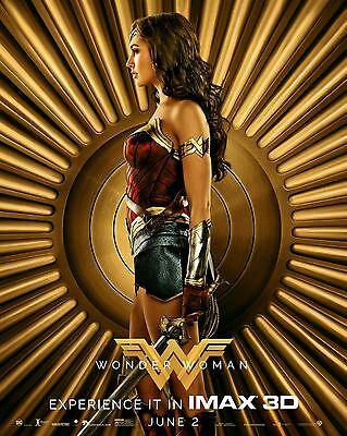 """Wonder Woman Gal Gadot New IMAX 2017 HQ Movie Poster 13×20/"""" 24×36/"""" 27×40/"""" 32×48/"""""""