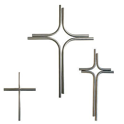 Edelstahl Kreuz 50 cm x 31 cm geschliffen