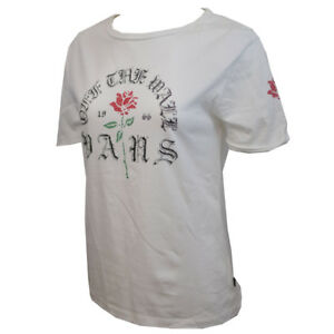 Vans-Off-The-Wall-Women-039-s-White-Rose-S-S-Tee-Retail-24