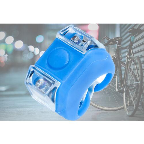 Flashlight Lamp Water Proof Flexible Silicone Body Blue Safety LED Bike Light