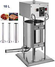 110v 10l Commercial Electric Sausage Stuffer Meat Filler Stuffing Machine 260w