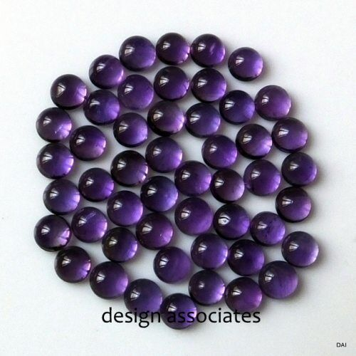 AFRICAN AMETHYST 11 MM ROUND CABOCHON ALL NATURAL