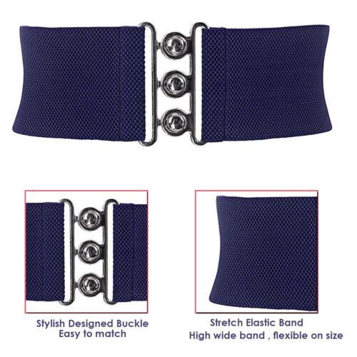 Korsett Stil 76mm Breit Elastisch Taille Dehnbar Gürtel Damen Mode Bund