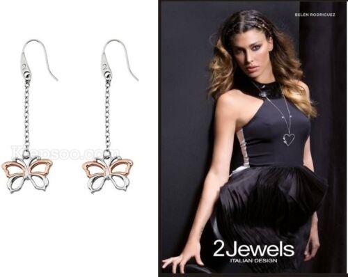 Orecchini 2Jewels Donna Pendenti Farfalla AcciaioBicolor Belen Earrings Ohrringe