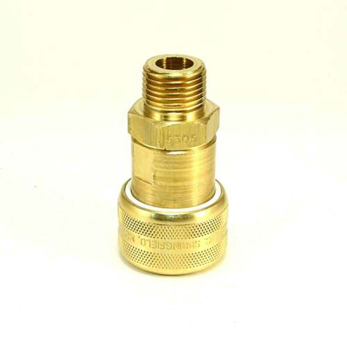 Foster 5 Series Brass Quick Coupler 1//2 Body 1//2 NPT Air Hose and Water Fittings