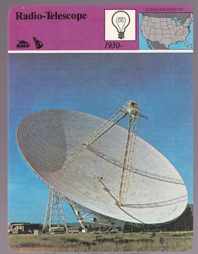 West Virginia Photo PARARIZON STORY OF AMERICA CARD RADIO-TELESCOPE Green Bank