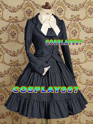 gothic handmade lolita dress+jacket+shirt christmas gift~free shipping fast~HKP