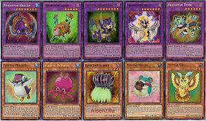 Yugioh-Fluffal-Frightfur-Deck-Leo-Sabre-Tooth-Mouse-Tiger-Kraken-Penguin-Octo