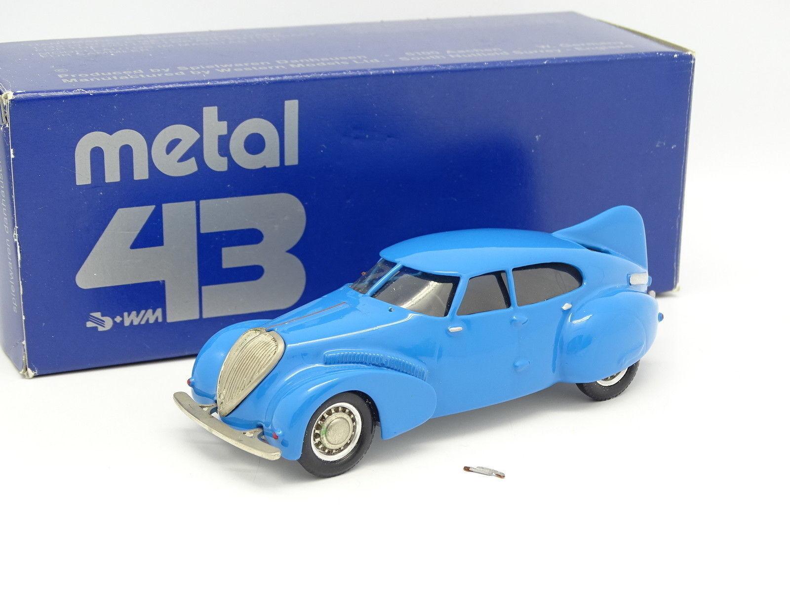 Western Models 1 43 - Peugeot 402 Aerodyne Bleue
