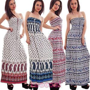 6912c0820 La imagen se está cargando Vestido-mujer-largo-bandeau-fantasia-vestido -verano-vestido-